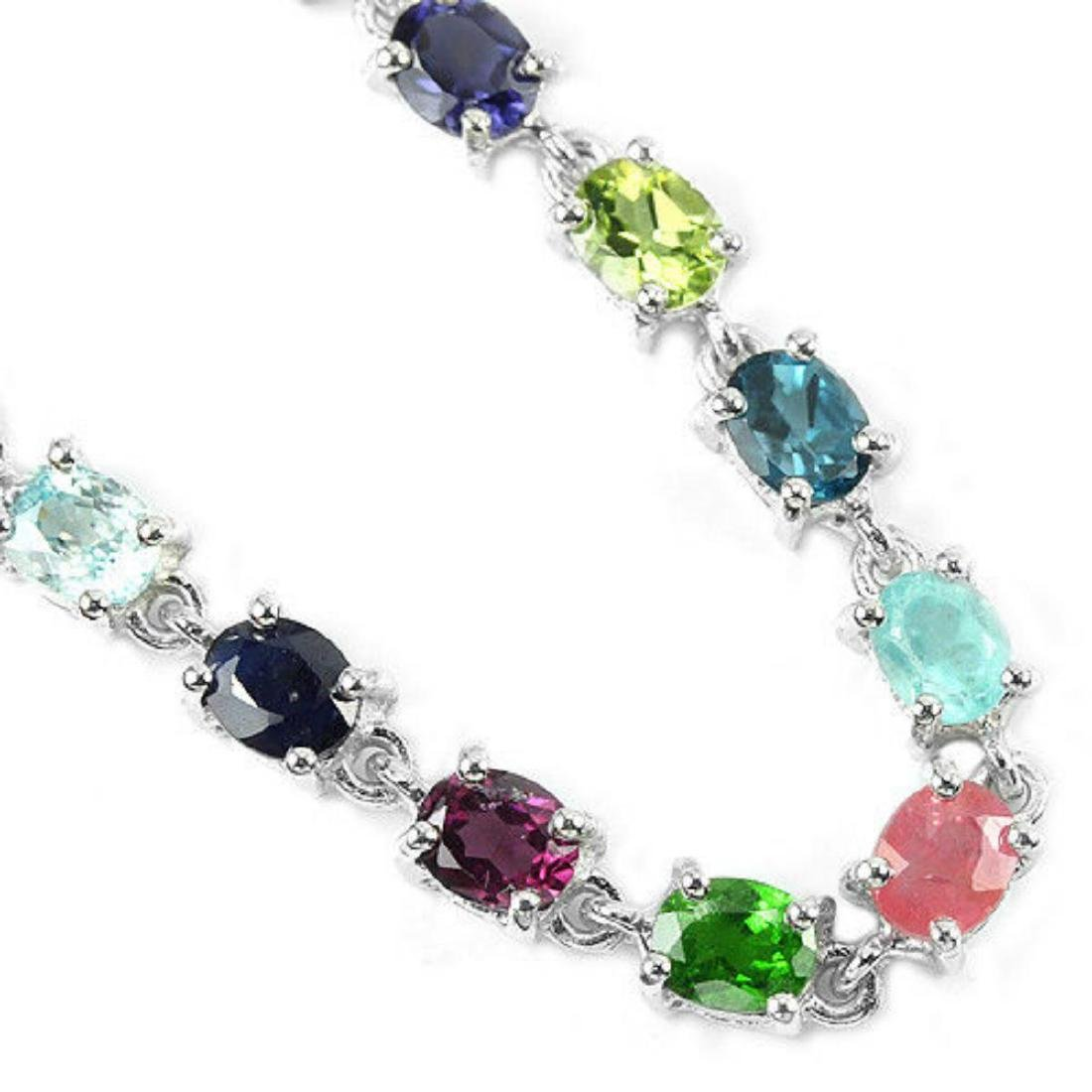 Natural EMERALD RUBY SAPPHIRE Bracelet - 2