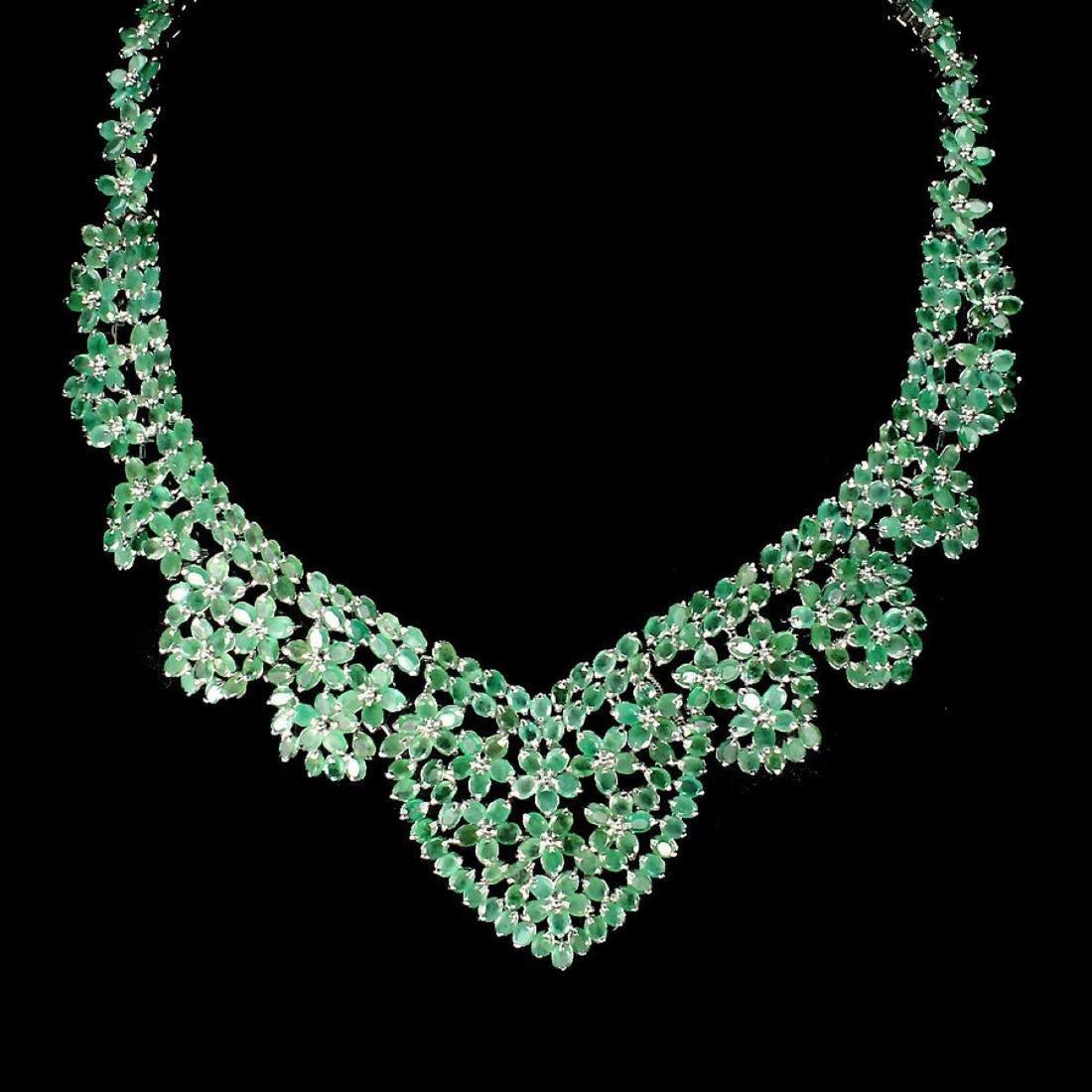 Natural Columbian Emerald 467 Ct Necklace