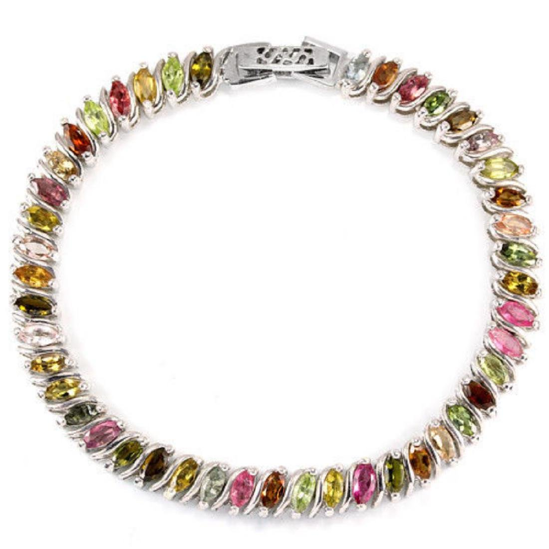 NATURAL Fancy Color TOURMALINE MARQUISE Bracelet