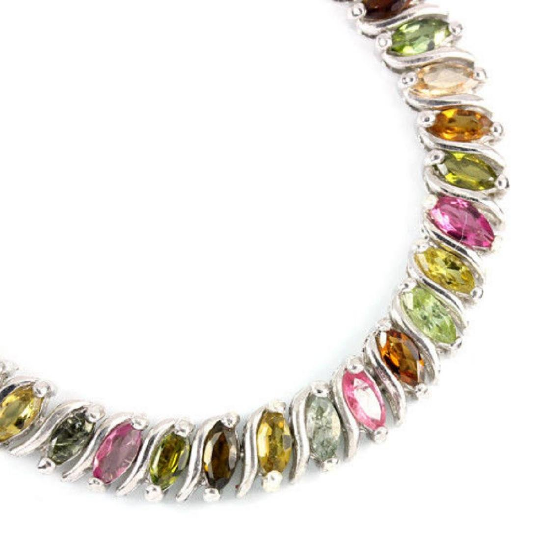 NATURAL Fancy Color TOURMALINE MARQUISE Bracelet - 2