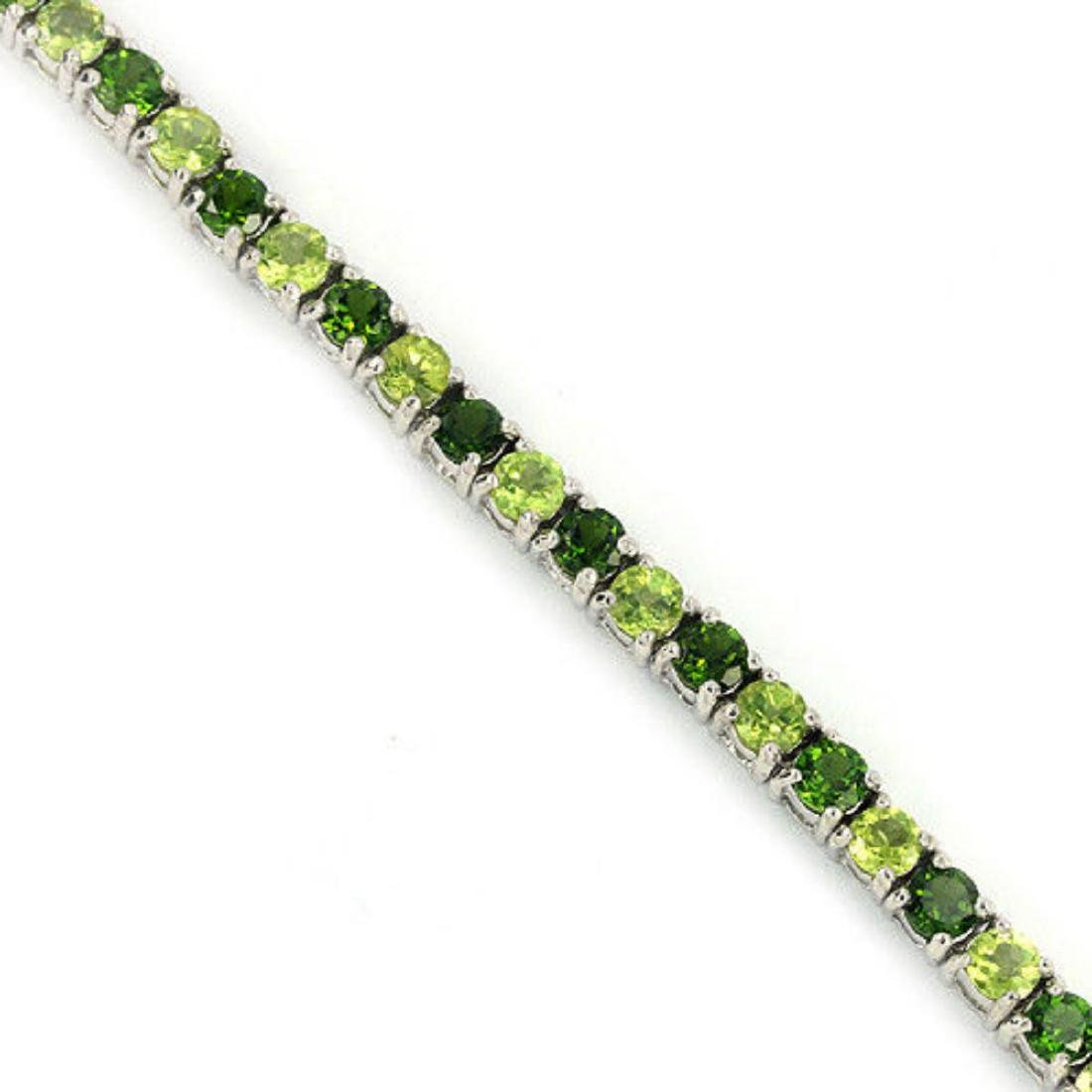NATURAL GREEN CHROME DIOPSIDE & PERIDOT Bracelet - 2