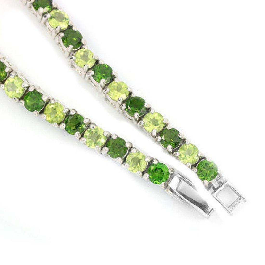 NATURAL GREEN CHROME DIOPSIDE & PERIDOT Bracelet - 3