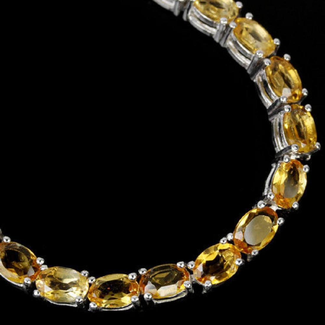 NATURAL AAA ORANGISH YELLOW CITRINE Bracelet - 2