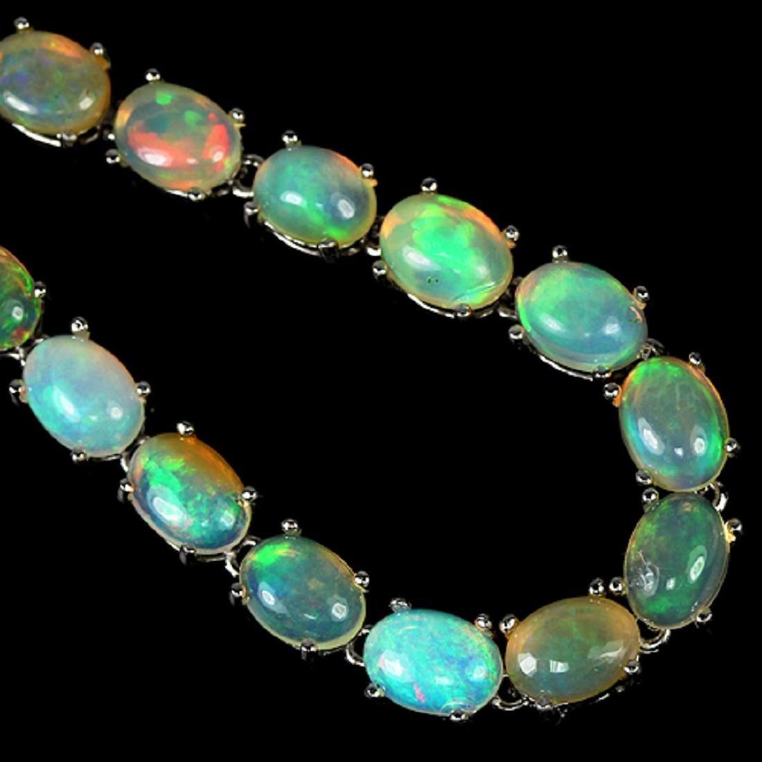 NATURAL AAA RAINBOW WHITE OPAL Bracelet - 2