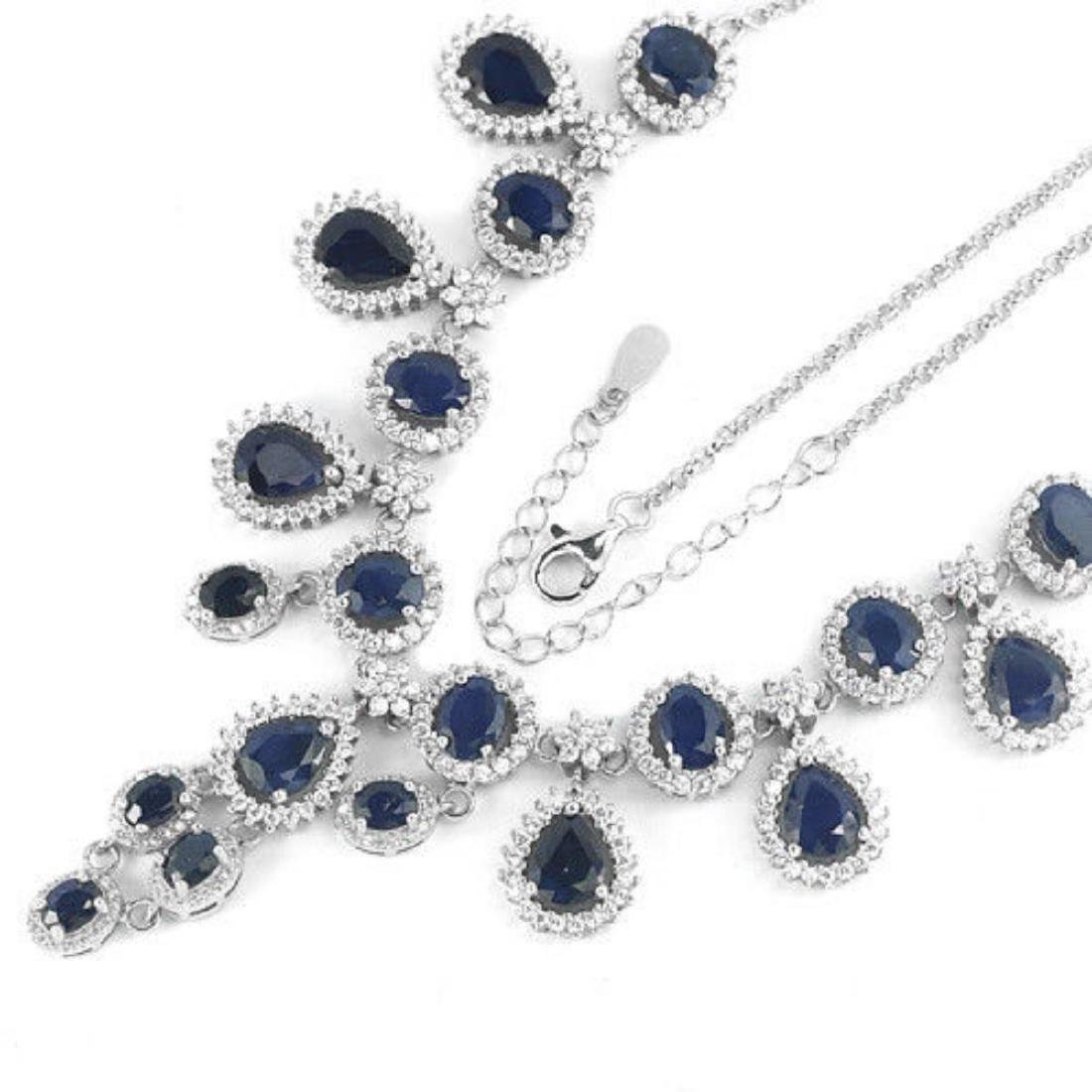 Natural BLUE SAPPHIRE 135 Ct Necklace - 2