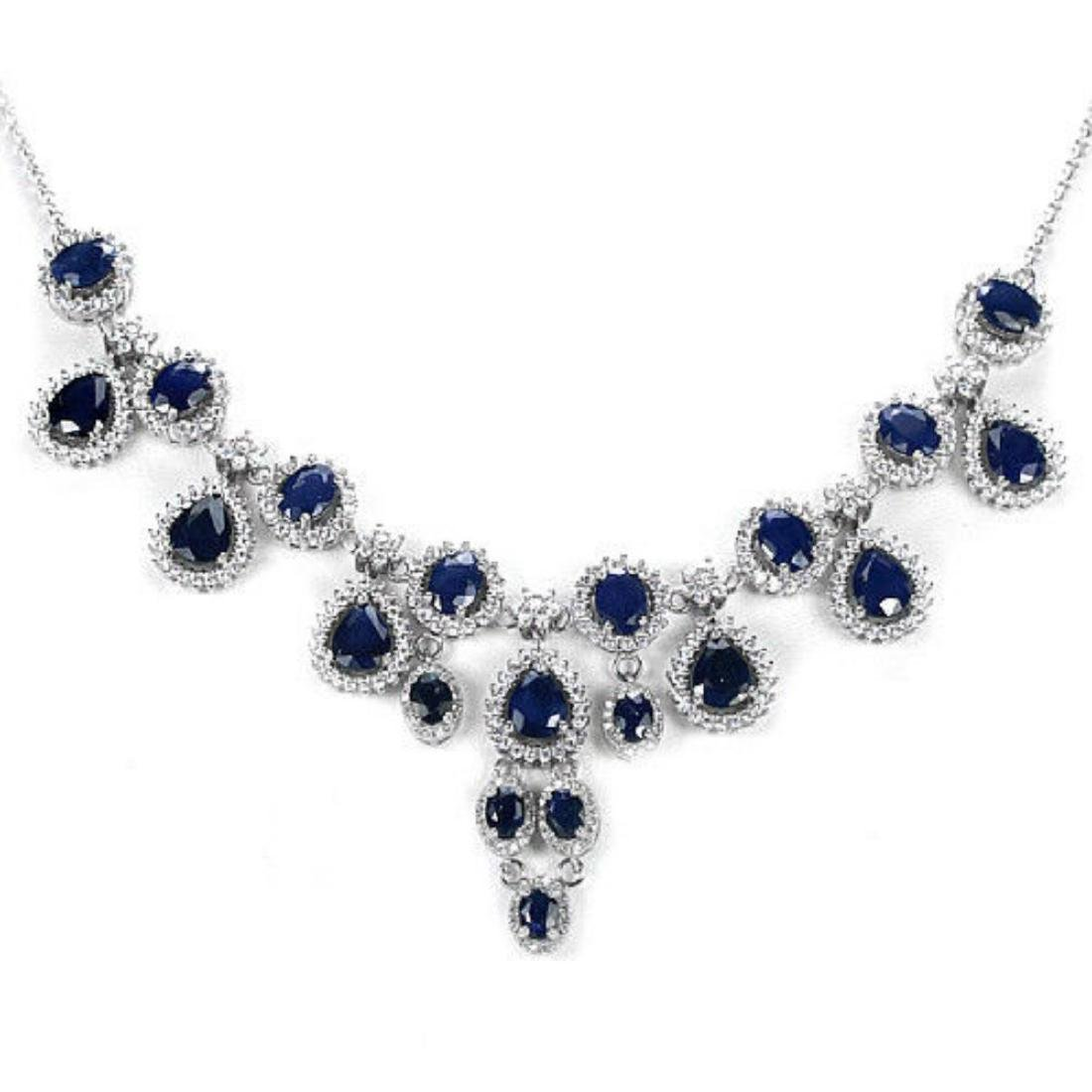 Natural BLUE SAPPHIRE 135 Ct Necklace - 3