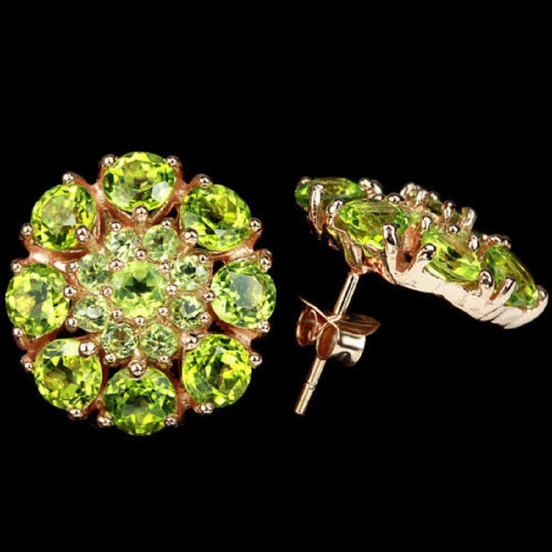 NATURAL AAA GREEN PERIDOT Earrings - 2