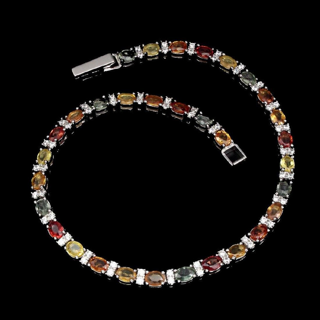 Natural Top Fancy Sapphire Bracelet - 2