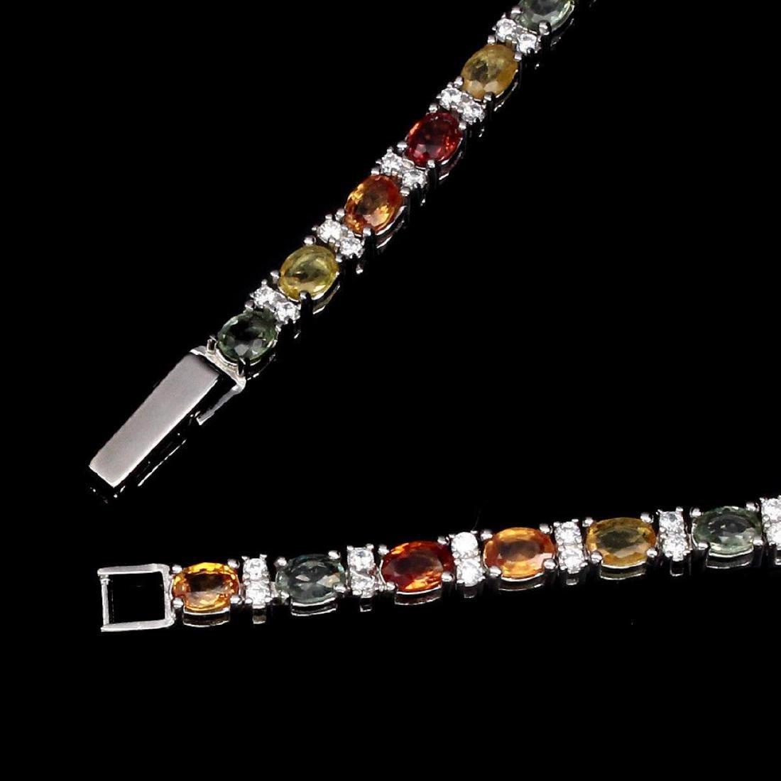 Natural Top Fancy Sapphire Bracelet - 3