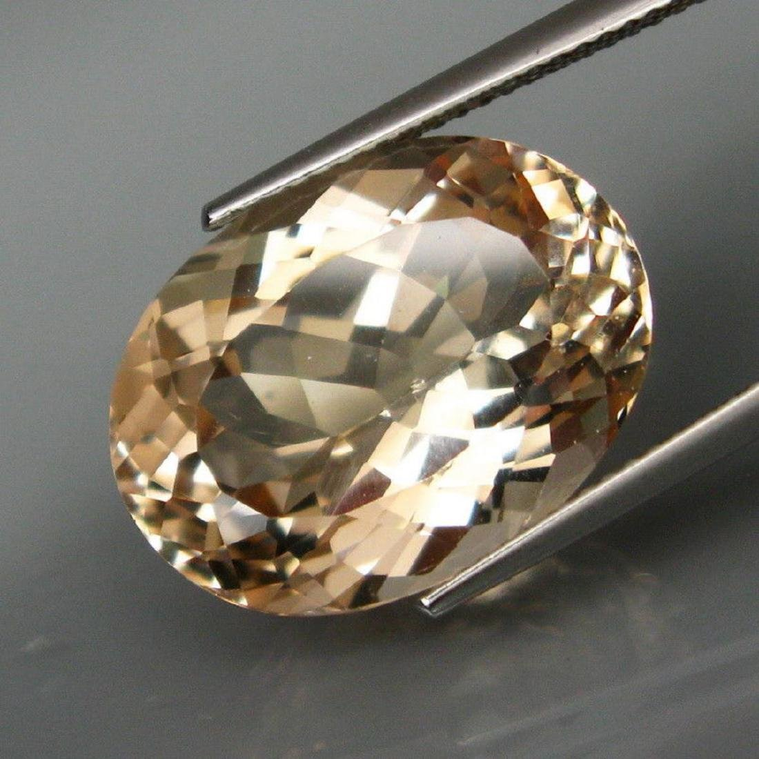 UNTREATED! Natural BIG Champagne Topaz 17.65 Ct