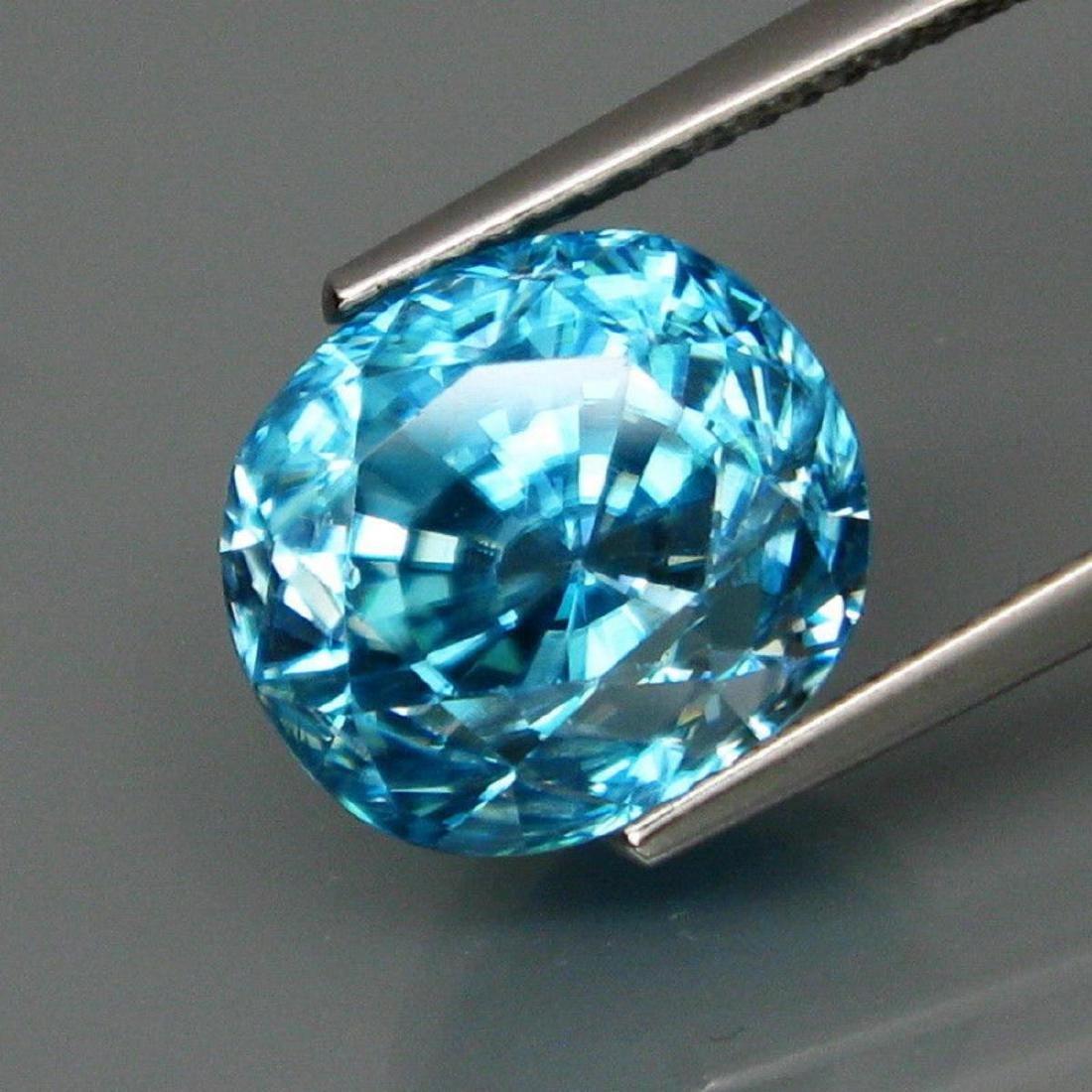 Natural Blue Cambodian Zircon 10.66 Ct