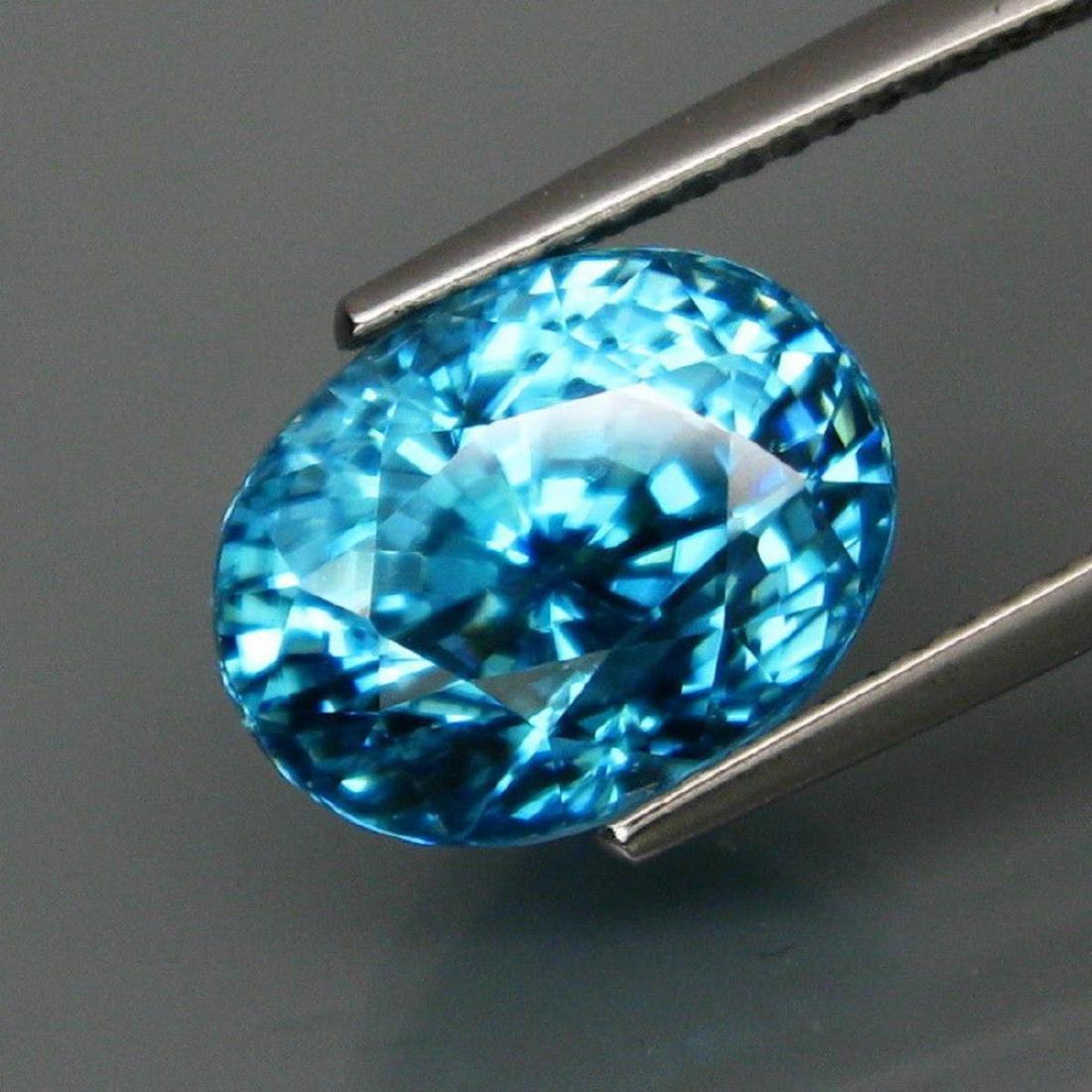 Natural BIG Blue Cambodian Zircon 9.68 Ct