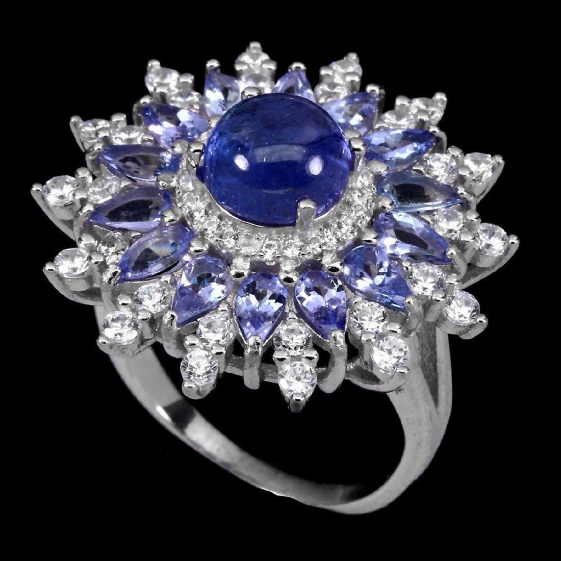 Natural Top Blue Violet Tanzanite 34.61 Ct  Ring