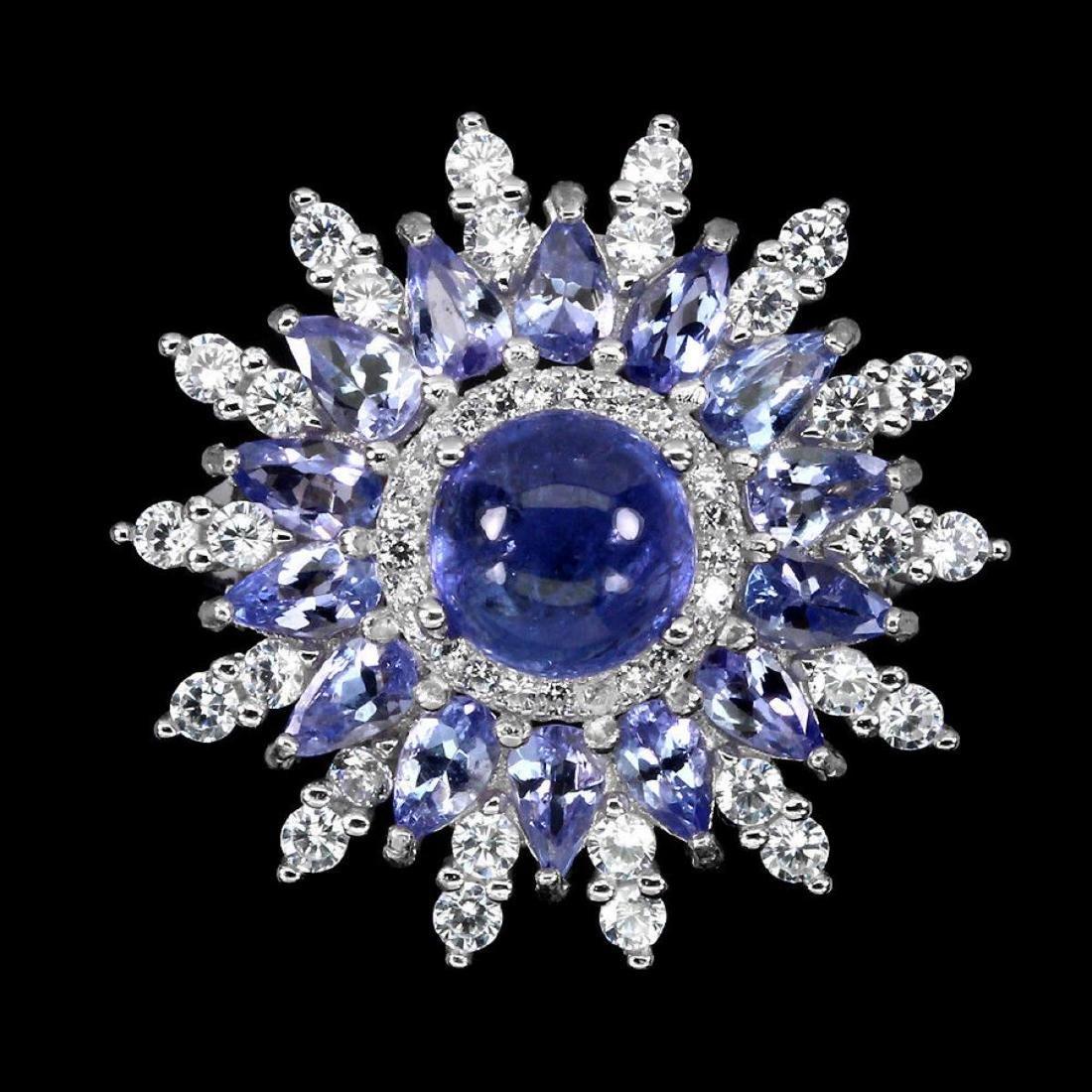 Natural Top Blue Violet Tanzanite 34.61 Ct  Ring - 2