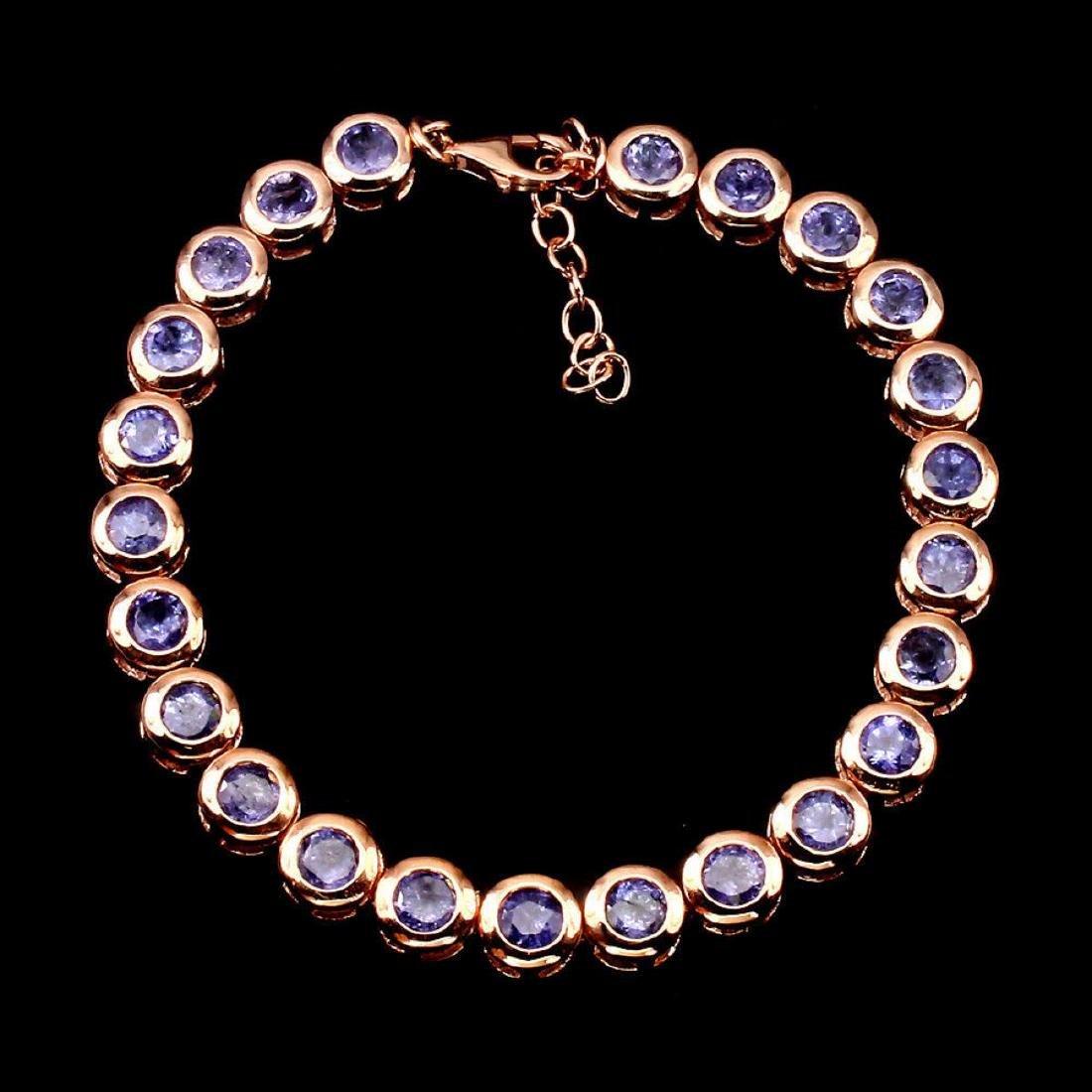 Natural Rich Blue Violet Tanzanite 86.35 CtBracelet