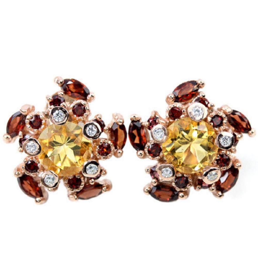 NATURAL MULTI COLOR CITRINE GARNET Earrings