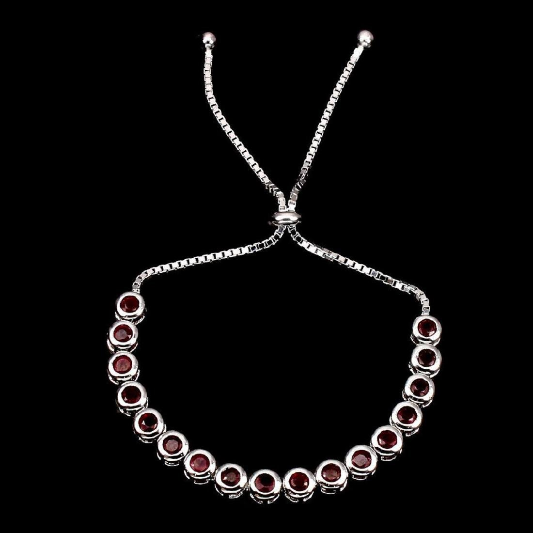 Natural Top Blood Red Ruby Bracelet - 2