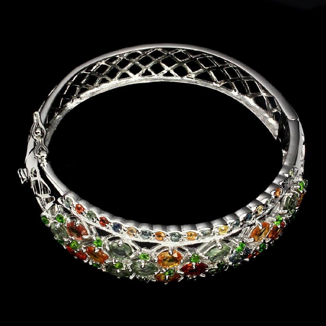 Natural Fancy Sapphire Chrome Diopside Bangle - 3