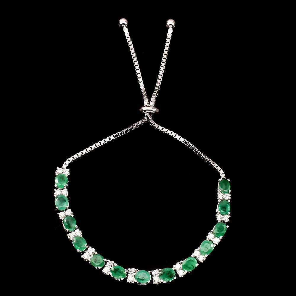 Natural Top Rich Green Emerald 50.06 Ct Bracelet - 2