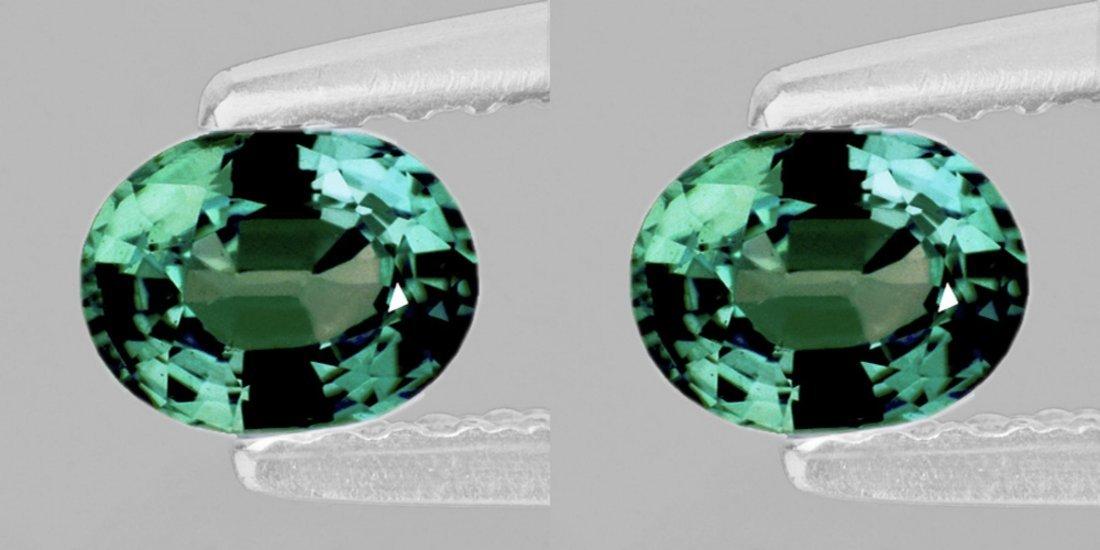 Natural  Green Sapphire Pair 2.45 Ct (Flawless-VVS)