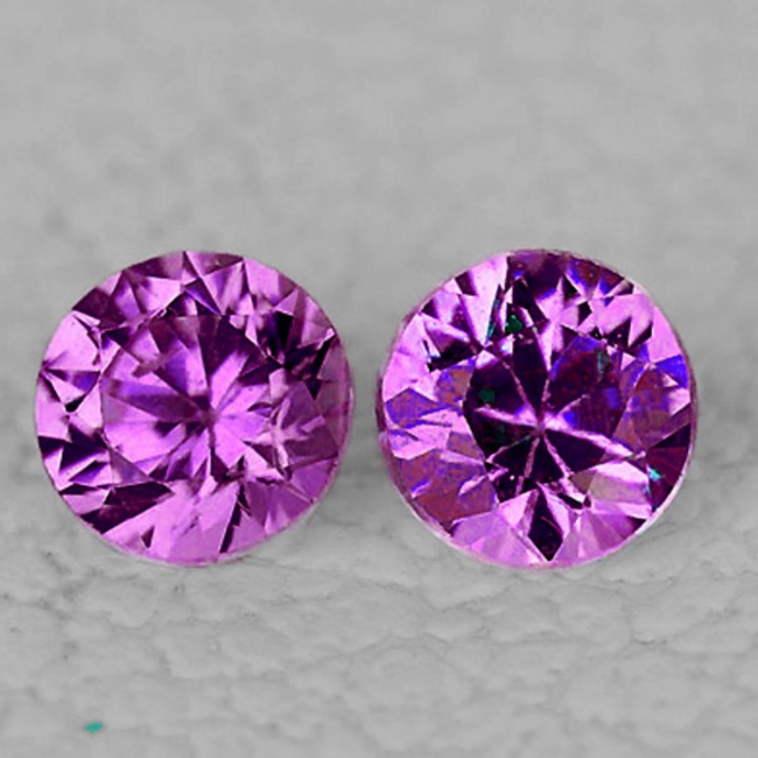 Natural Violet Pink Color Change Sapphire Pair Flawless