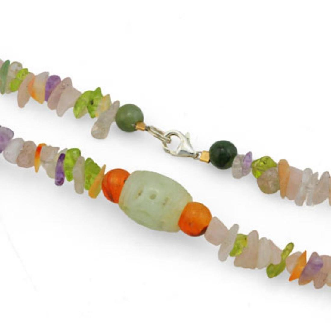Natural Jade Pendant & Gemstone beads 150 cts Necklace - 2