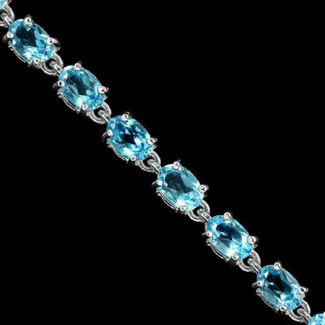 Natural SWISS BLUE TOPAZ Bracelet - 2