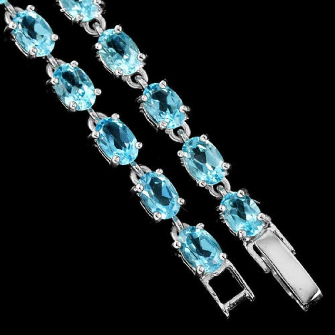 Natural SWISS BLUE TOPAZ Bracelet - 3
