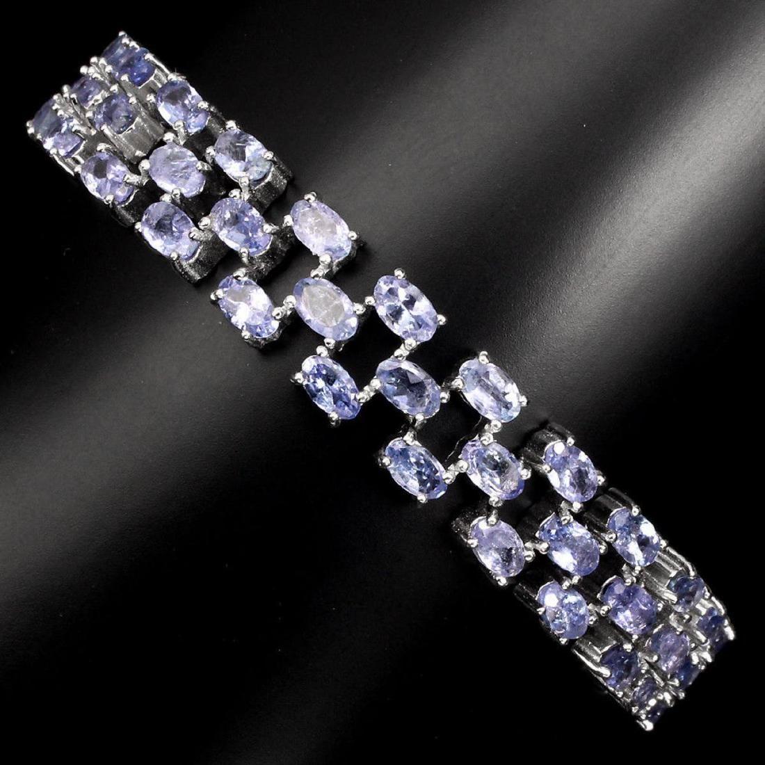 Natural 5x3 MM Blue Violet Tanzanite Bracelet