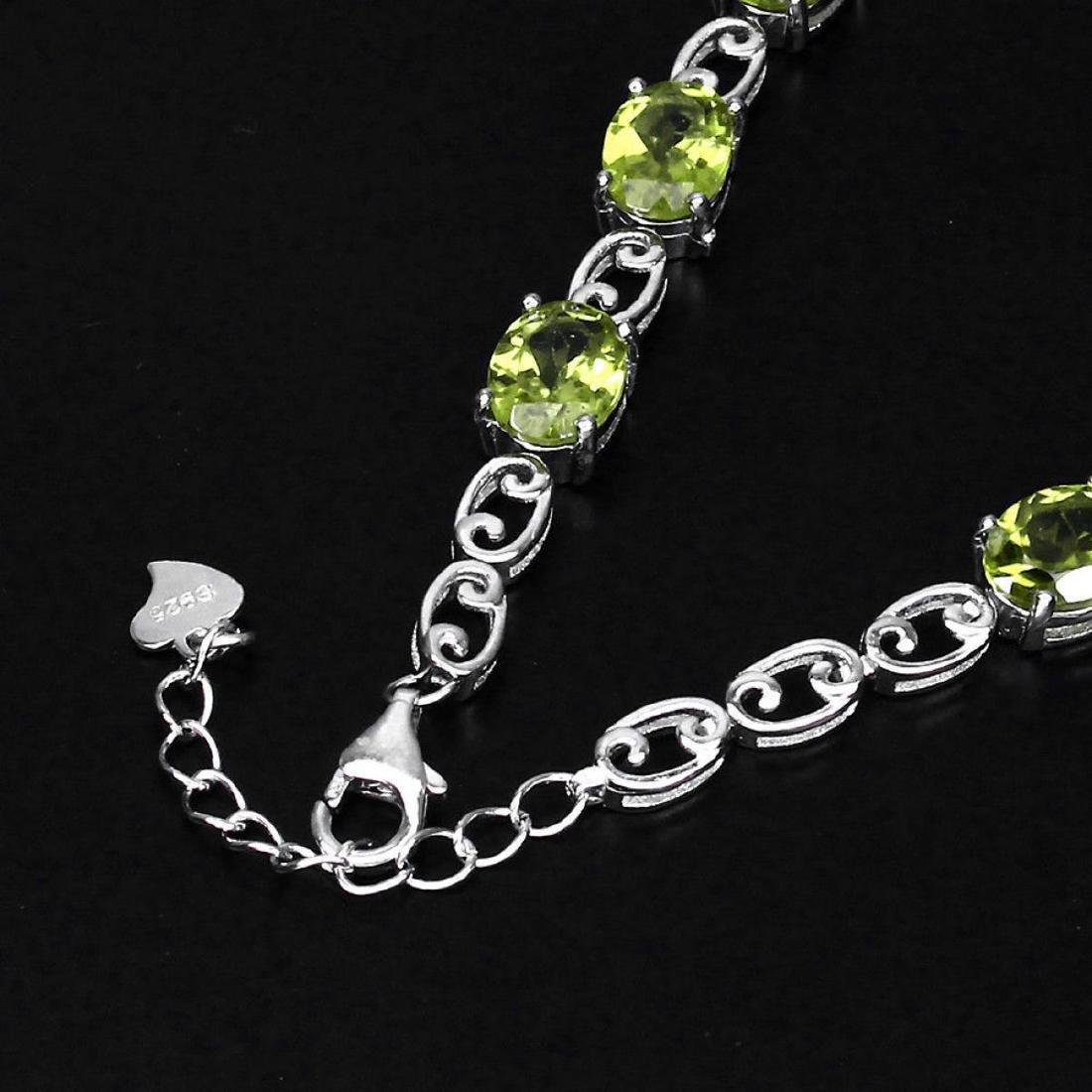 Natural  8x6mm Top Rich Green Peridot Bracelet - 3