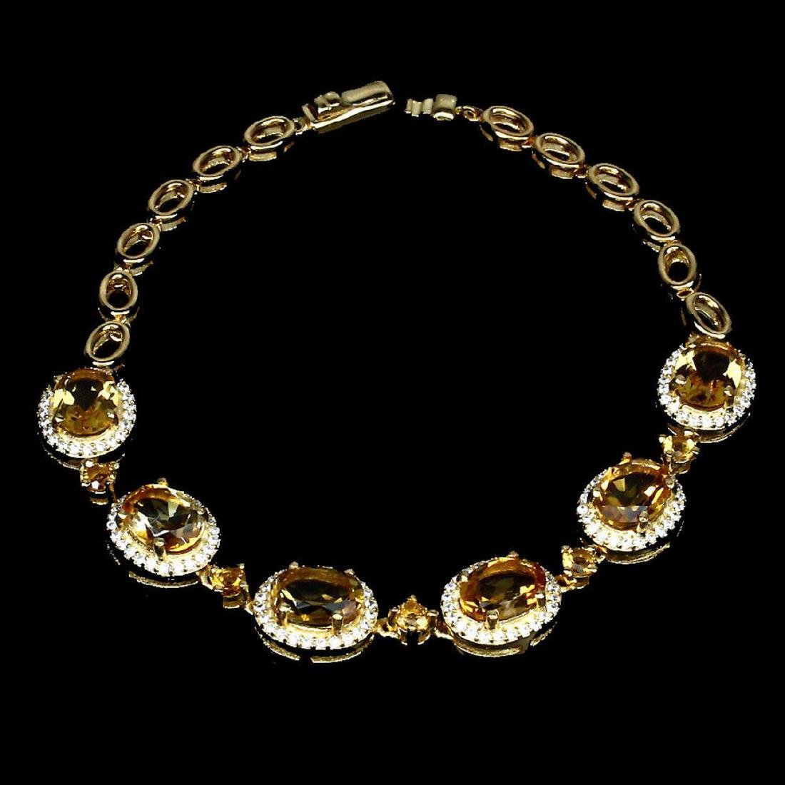 Natural 8x6mm Top Rich Yellow Citrine Bracelet - 2