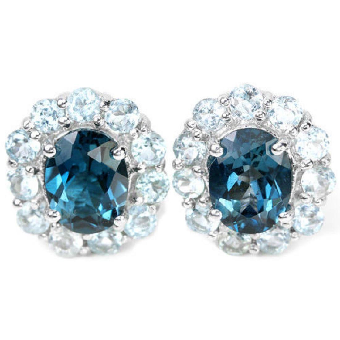 Natural AAA LONDON & SKY BLUE TOPAZ Earrings