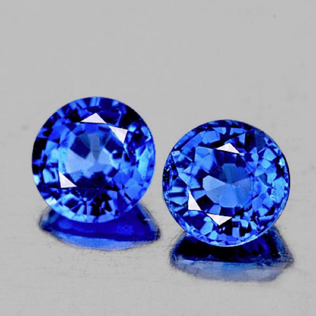 NATURAL  BLUE SAPPHIRE PAIR - VVS