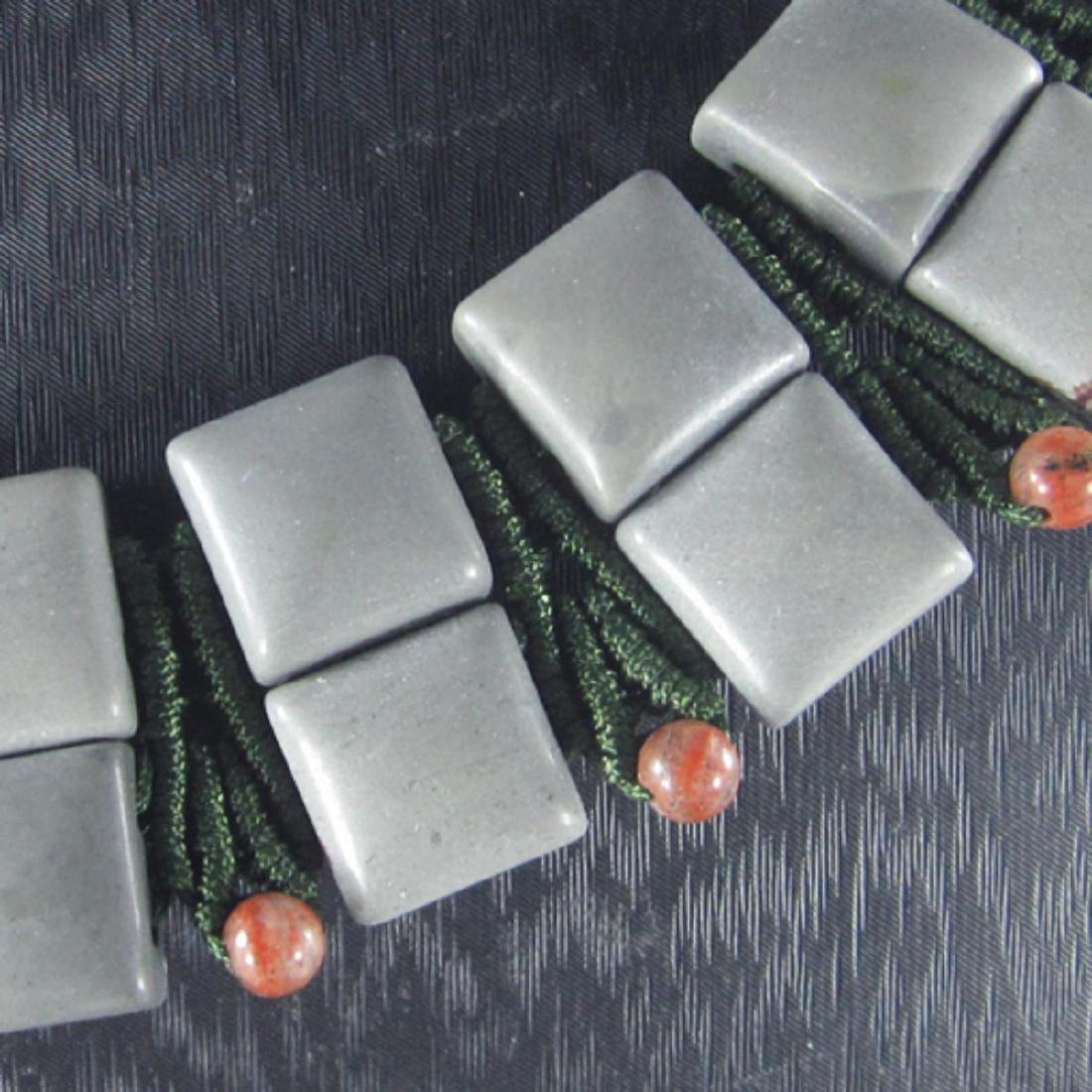 Natural Multi-Color Stone Diamond Polished Necklace - 3
