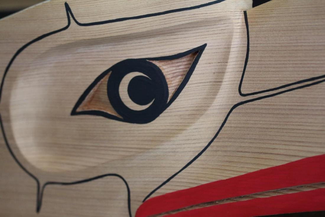 West Coast Native Hand Carved 3D Eagle Head Mask - 2