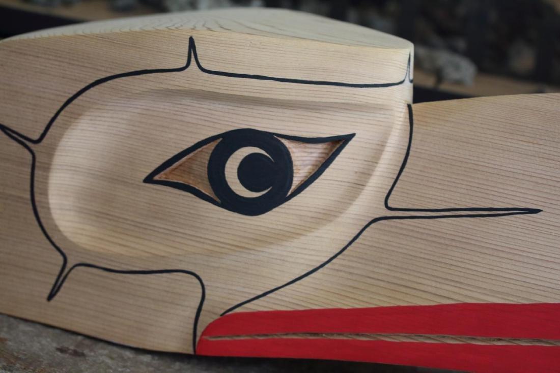 West Coast Native Hand Carved 3D Eagle Head Mask - 4