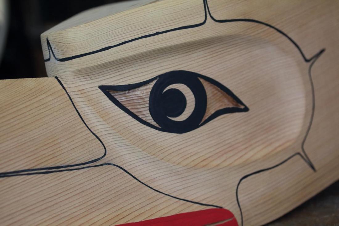 West Coast Native Hand Carved 3D Eagle Head Mask - 7