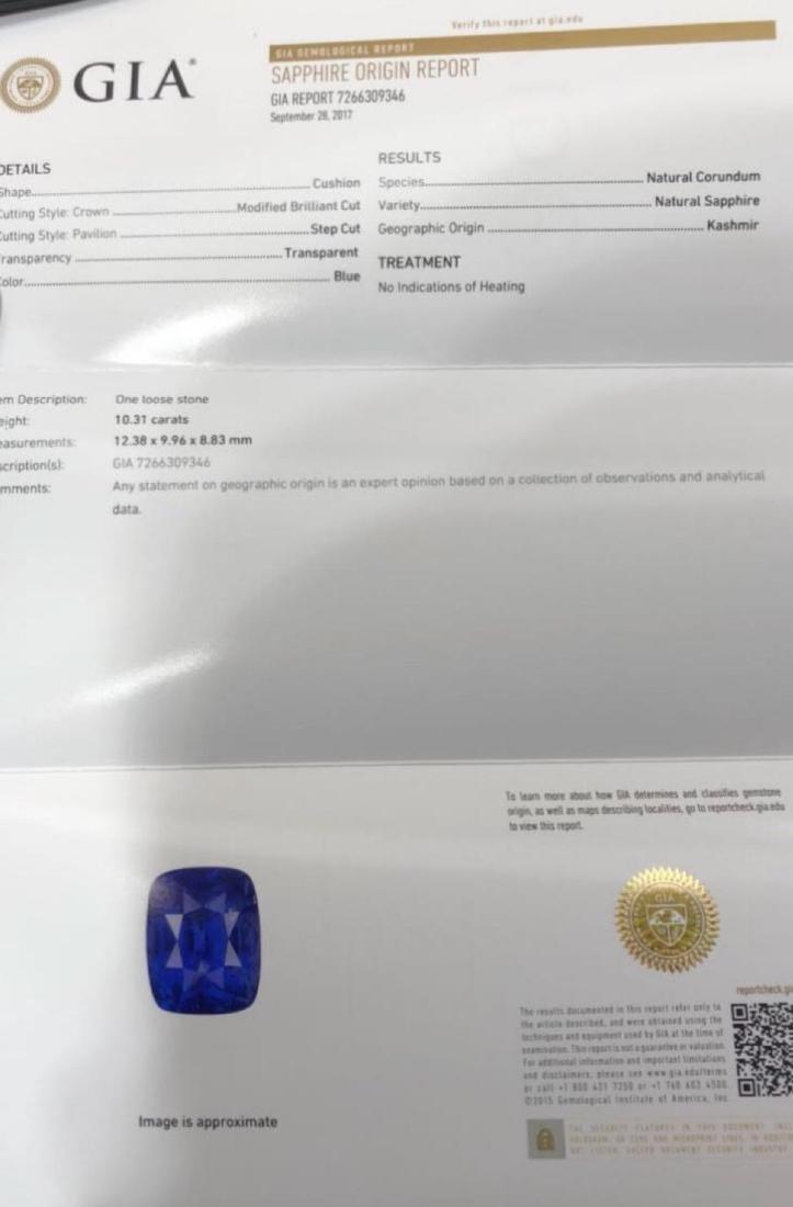 Natural Blue Kaskmir Sapphire - Certified - 2