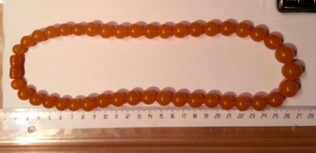 Vintage Natural Baltic Amber Beads Necklace 55.00 Grams - 2