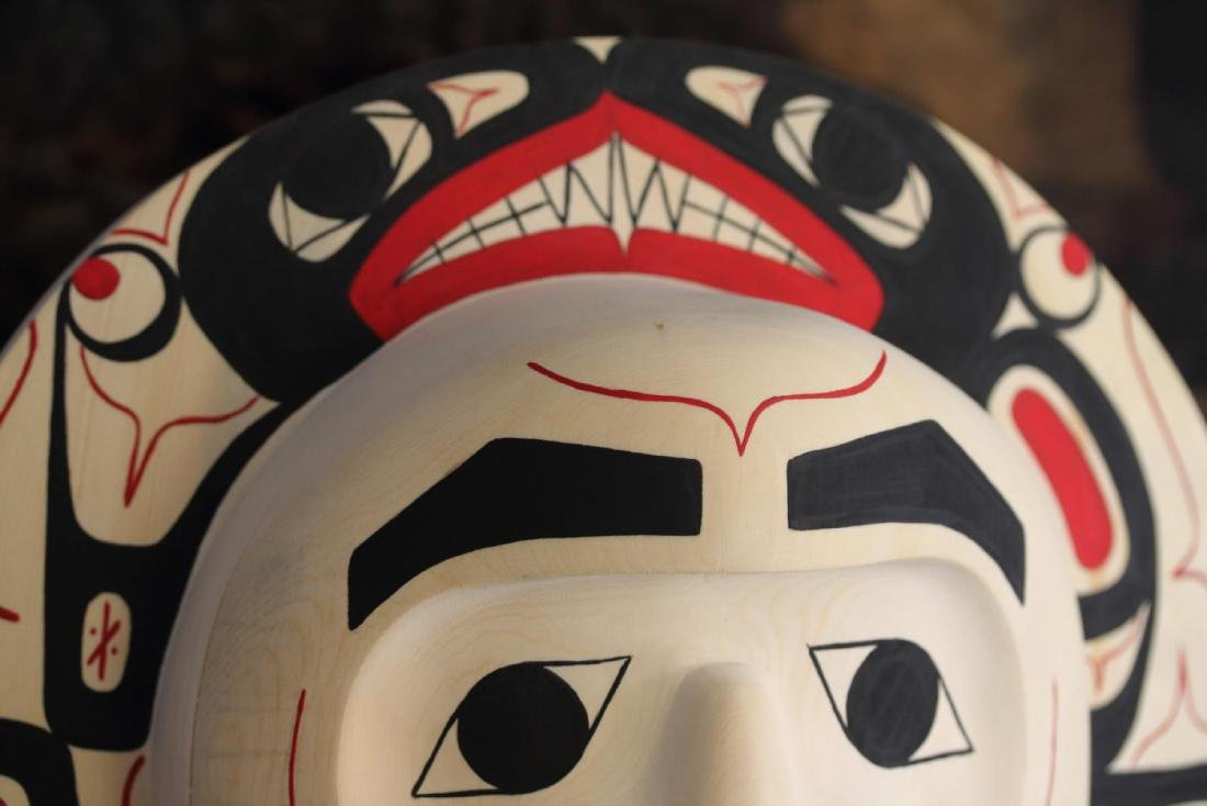 West Coast Native Moon Mask with Killer Whale Spirit - 3