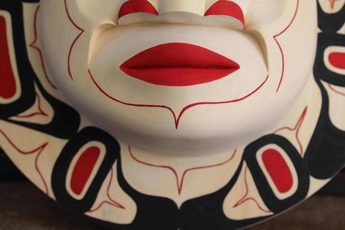 West Coast Native Moon Mask with Killer Whale Spirit - 5