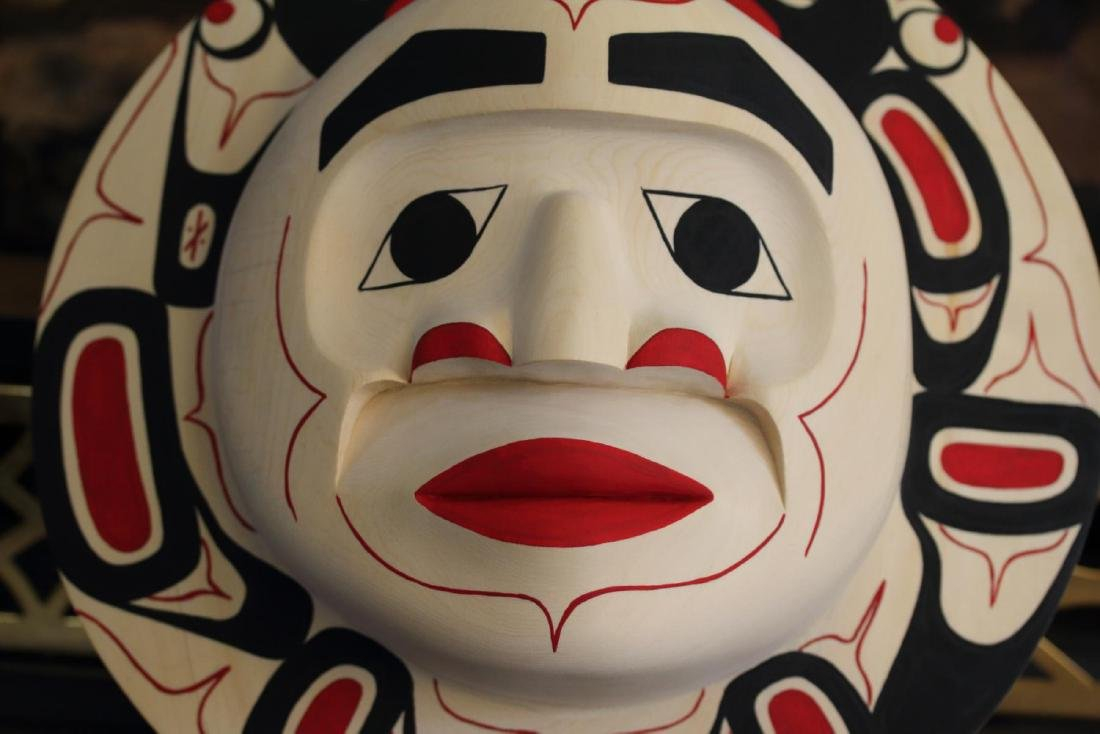 West Coast Native Moon Mask with Killer Whale Spirit - 6