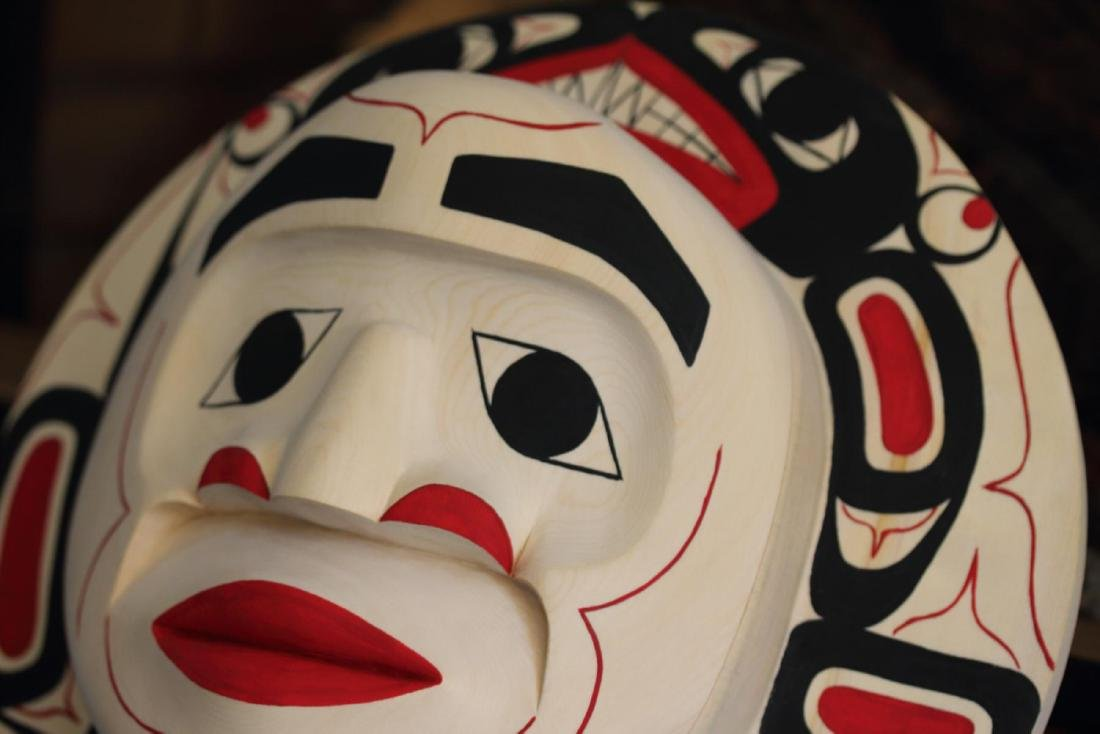 West Coast Native Moon Mask with Killer Whale Spirit - 7