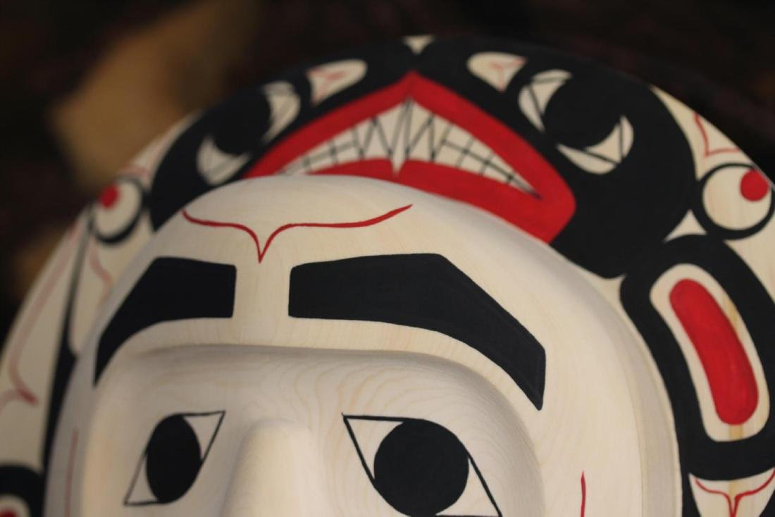 West Coast Native Moon Mask with Killer Whale Spirit - 8