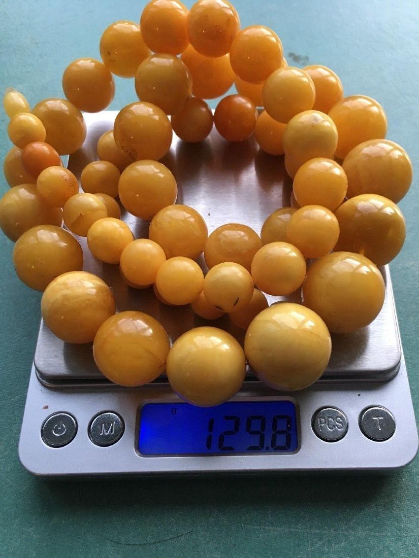 Antique Natural Amber Butterscotch Egg Yolk Necklace - 8