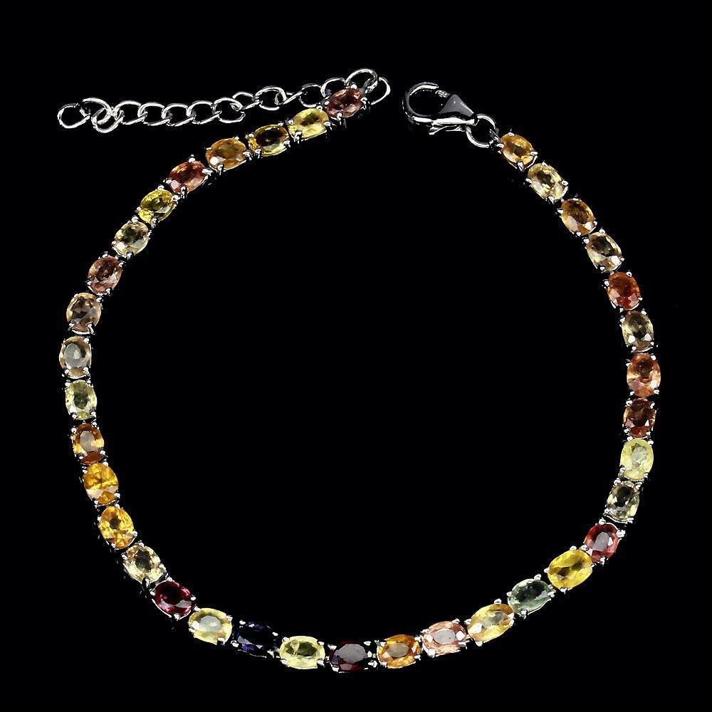 Natural Fancy Color Sapphire Bracelet - 2