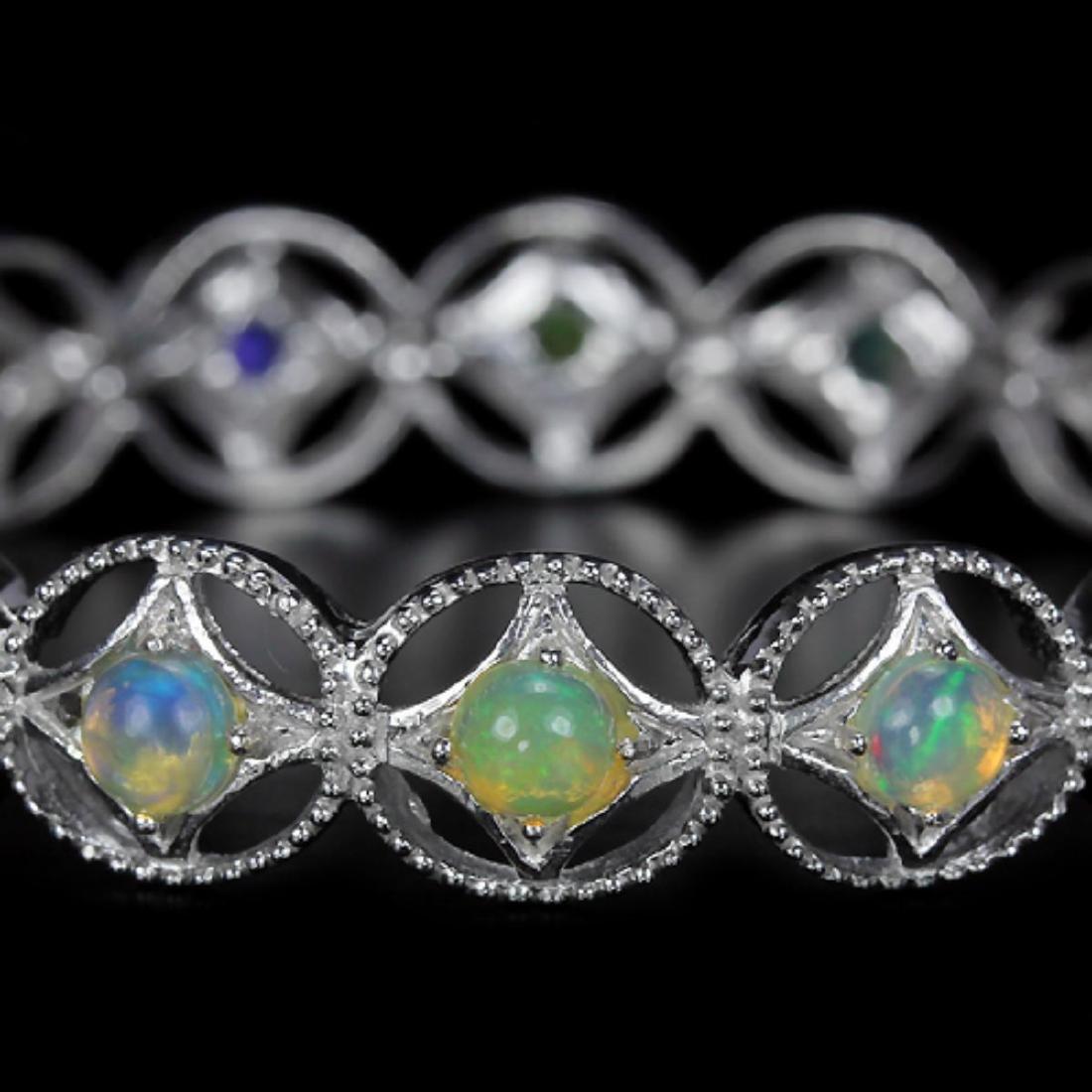Stunning Natural Multi Color Opal Bracelet - 2