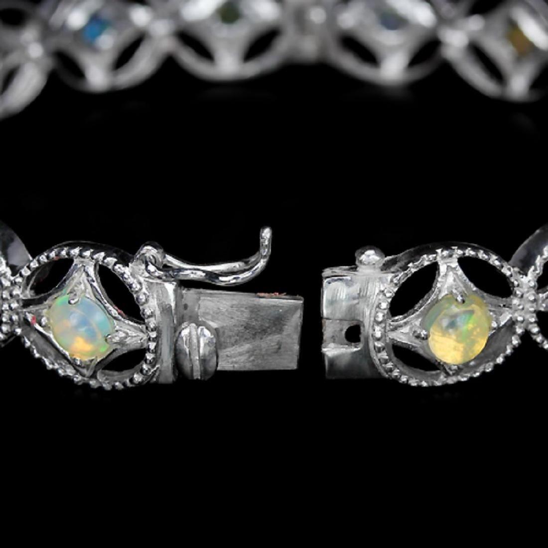 Stunning Natural Multi Color Opal Bracelet - 3