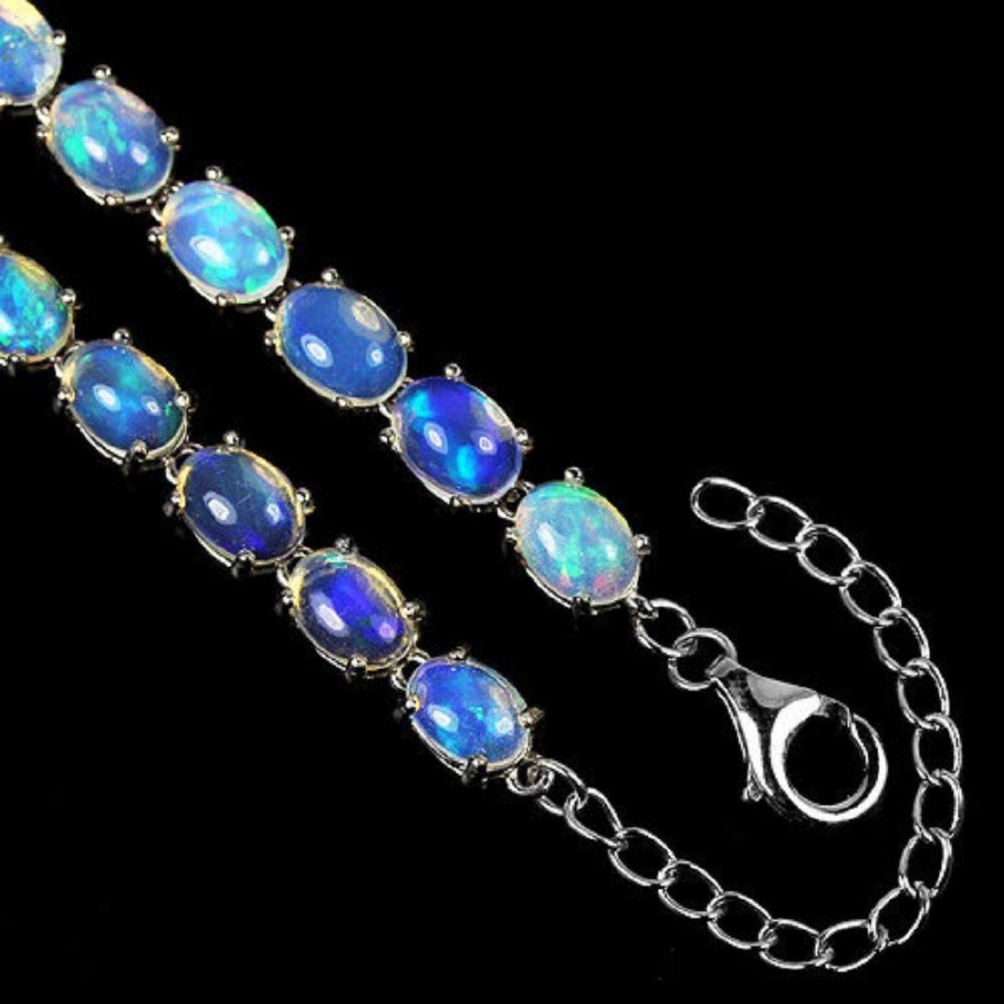 NATURAL  WHITE OPAL  Bracelet - 3