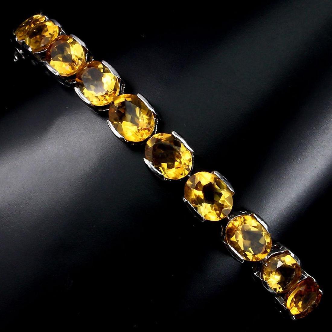 Natural Top Rich Yellow Citrine 95.33 Bracelet